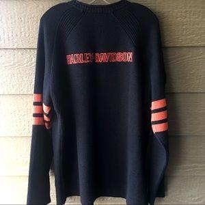 Men's Harley Davidson black & oranges XL sweater